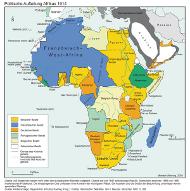 Historische Karte von Afrika