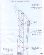 Skizze eines Bohrturms